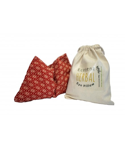 Yoga, Meditation Eye Pillow - filled with Organic Amaranth and Eyebright Flowers