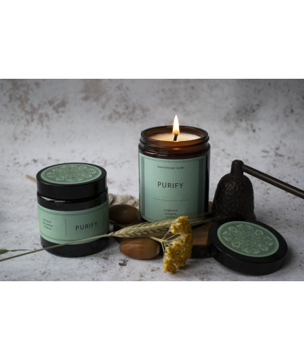 PURIFY Gift Set - 180g + 90g Coco & Rapeseed Wax Candle