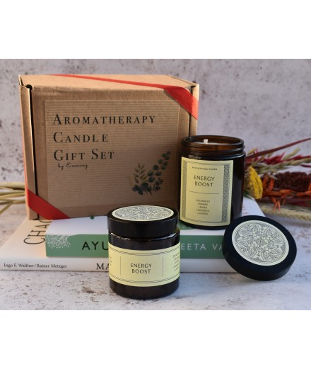 ENERGY BOOST Gift Set  - 180g + 90g Soy Wax Candle